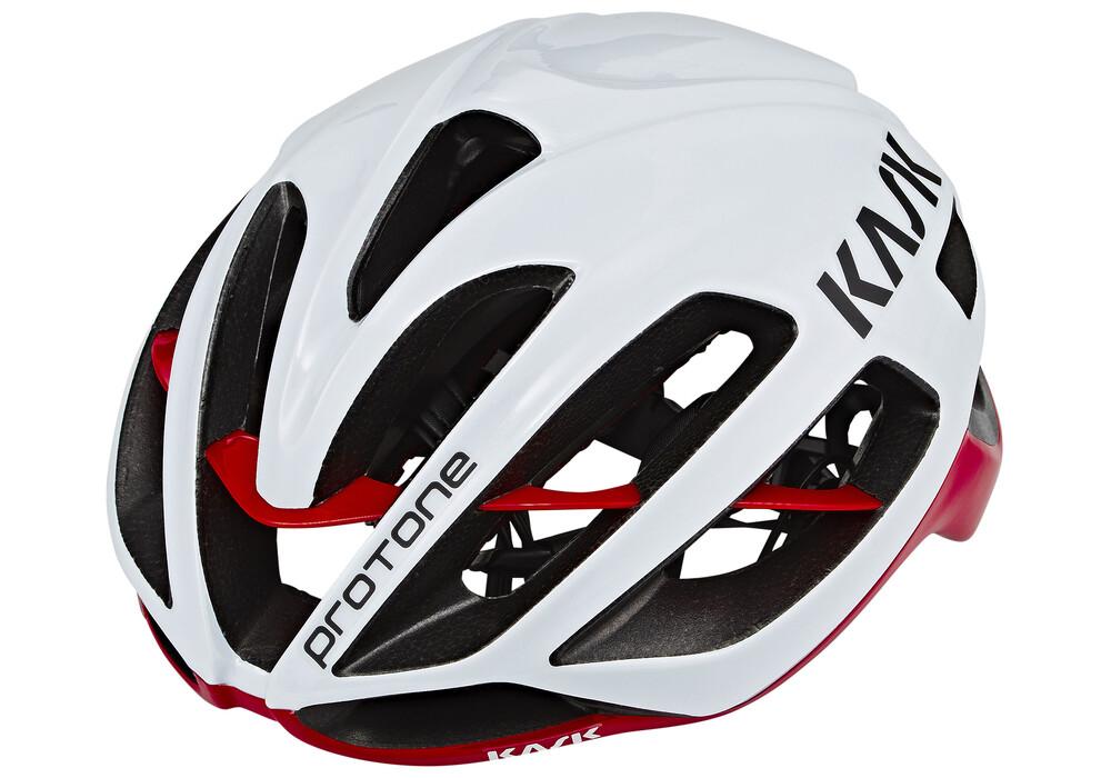 Kask Protone Casco Rojo Blanco Bikester Es